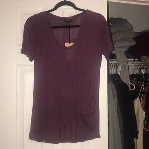 soft purple short sleeve t-shirt